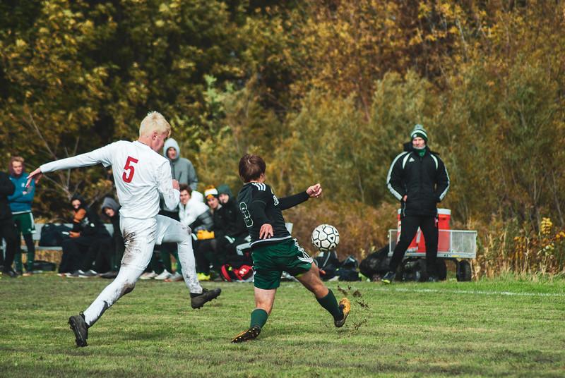 Holy Family Varsity Soccer vs. Mound Westonka Oct 13, 2018: Sawyer Schugel '19 (3)