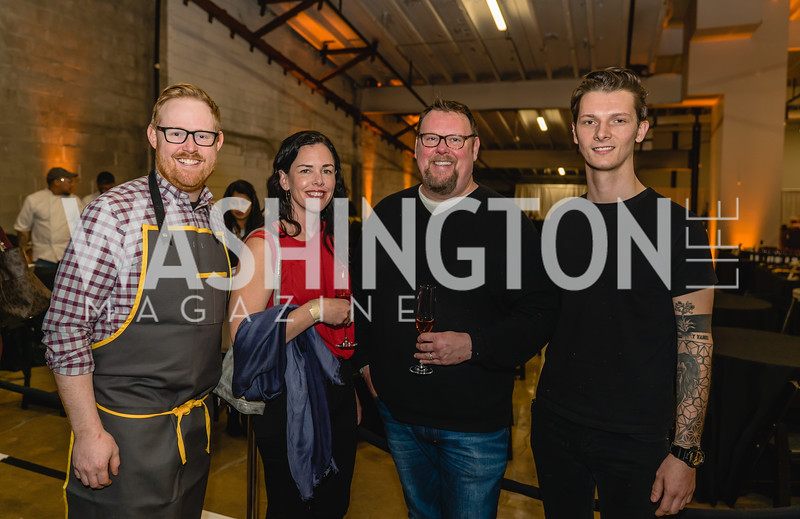 Opie Crooks, Alexandra Ricciuti, Peter W Schellenbach, Andrew Partridge. 2018 StarChefs Tasting Gala & Awards Ceremony. December 11, 2018. Elyse Cosgrove Photography.ARW