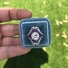 2.27ct (est) Art Deco Old European Cut Diamond with Amethyst Halo Ring 38