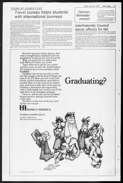 Daily Trojan, Vol. 65, No. 130, May 18, 1973