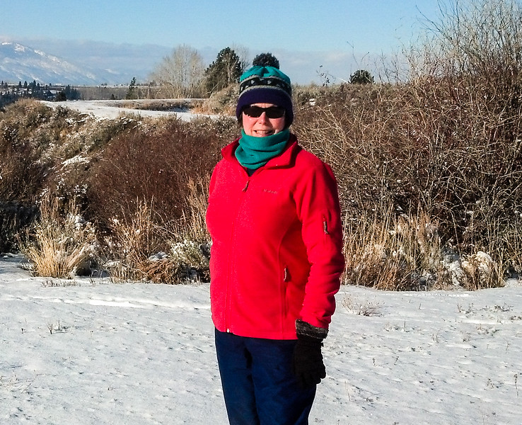 Sometimes a fleece jacket is all that you need to stay warm on a snowy walk in the winter.