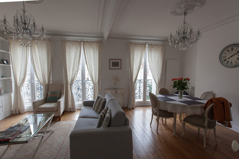 The living room inside the Haven in Paris - a really nice little apartment on the left bank just south of Notre Dame.