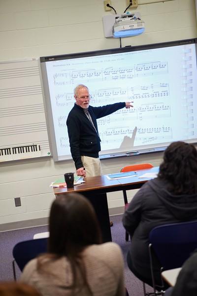 -UWL UW-L UW-La Crosse University of Wisconsin-La Crosse; Band; Candid; Center for the ArtsCFA; Classroom; day; December; Faculty; Inside; Man men; Music; Professor; Speaking; Talking