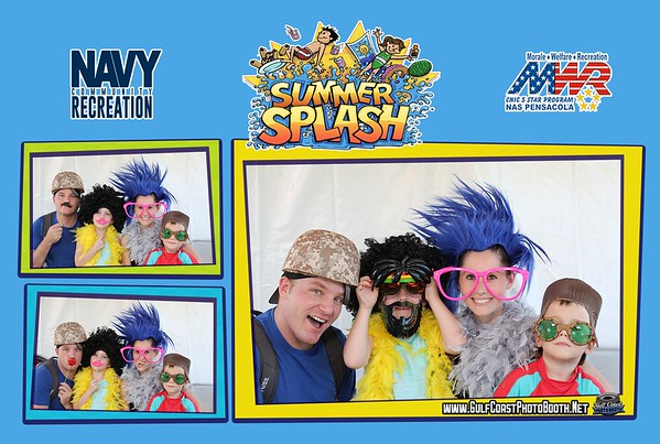 MWR Pensacola Summer Splash Photo Booth Prints