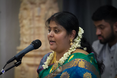 Vathsala's Carnatic vocal performance @ Birmingham Temple.