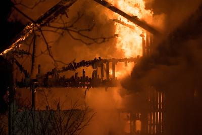 37 - S Caln Rd - Barn Fire