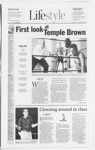 Daily Trojan, Vol. 141, No. 25, October 03, 2000
