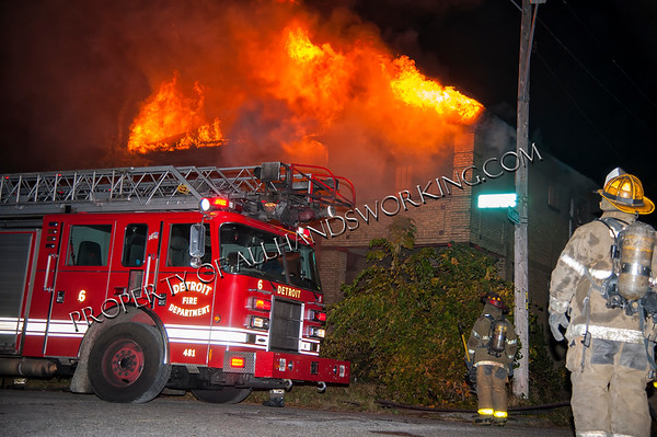 Detroit Box Alarm Edison and McQuade four flat dwelling