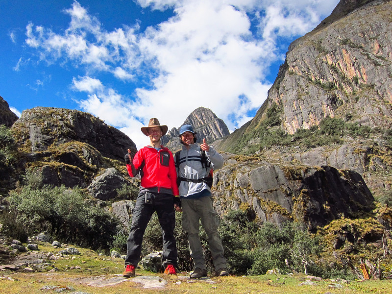 Pumahuanca Valley, close to the end, all we need is to climb the rock behind us. Next photos are from the top of this rock behind us to the left.