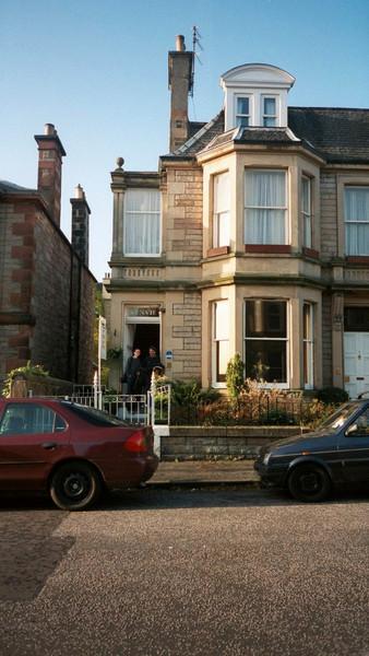 Kenvie guest house in Edinburgh.