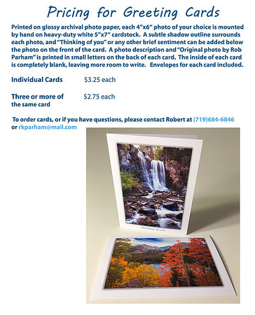 Pricing - Greeting Cards