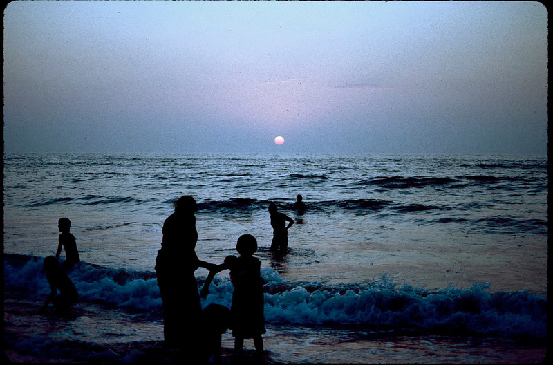bathing children at the day's end