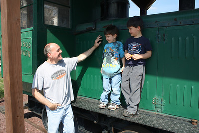Grandfather, Grandsons, Train Station, Tamaqua (3-23-2012)