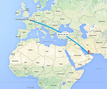 28 August 2015 Dubai to Paris