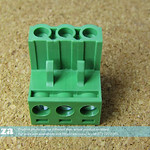 SKU: AE-BLOCK/508/3, 5.08mm Pitch 3 Way L-Type Top Feed PCB Cable Terminal Block, 3Pin Plug in Screw, for Laser Power Supply Power Connector (Green)