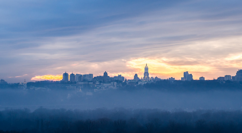 Kyiv skyline