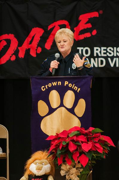Crown Point Elementary D.A.R.E. Program Graduation 12-3-15 by Jon Strayhorn