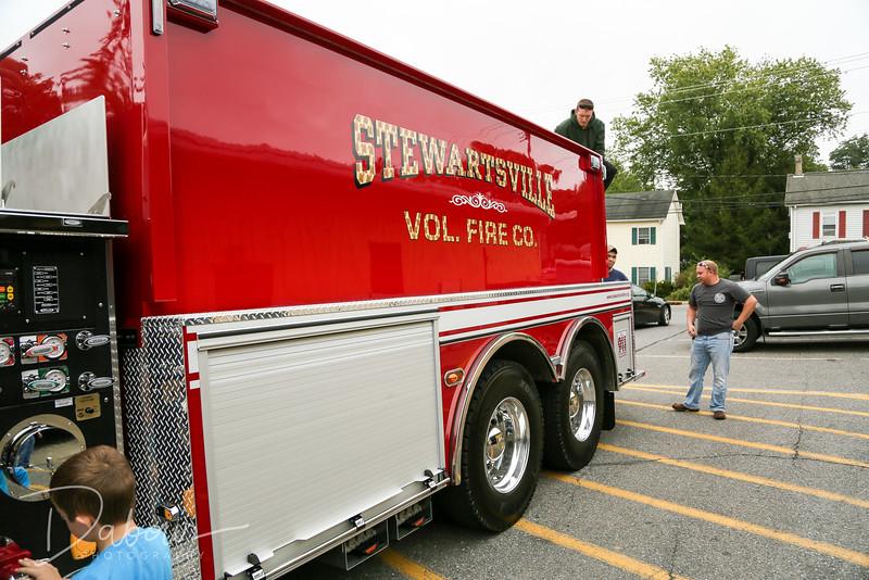 Stewartsville Fire Co. gets new water tender  truck