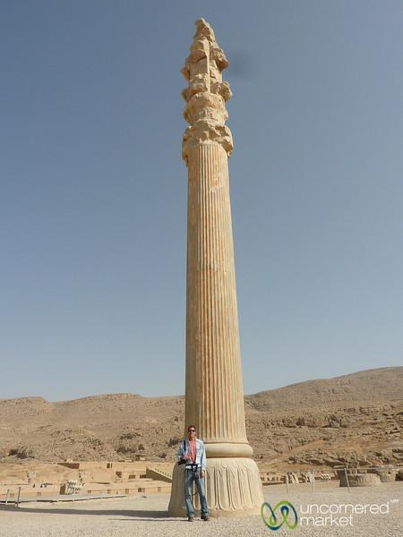 Ancient Column at Persepolis, Iran