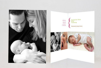 Sample 5x7 Folded Baby Cards