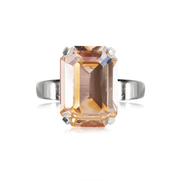 Lydia Ring / Light Peach / Rhodium