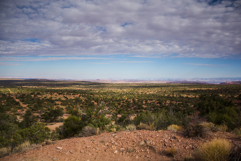 view from our campgrounds outside of Canyonlands National Park