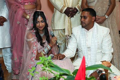 Richmond Hill, NY - July 30: Anil & Amber's Engagement Puja, Richmond Hill, USA