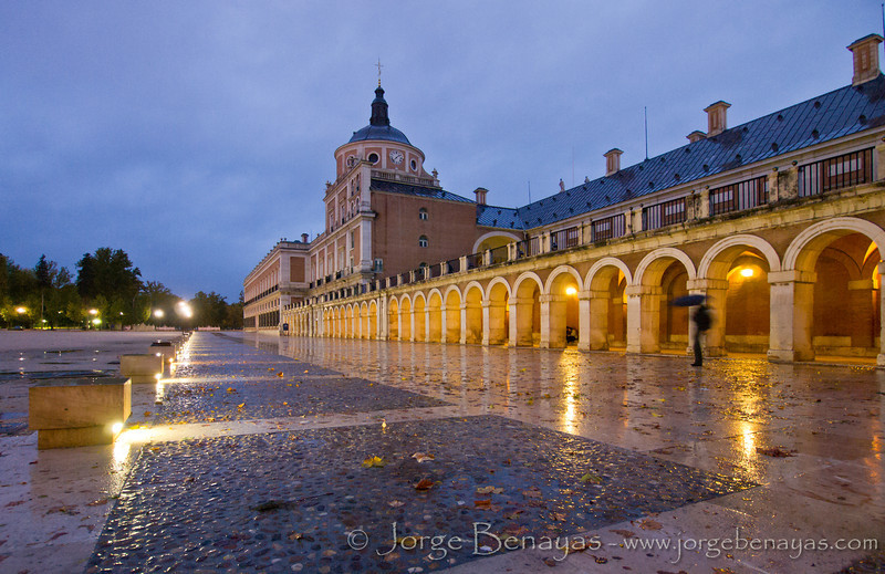 Anochecer en el Palacio de Aranjuez