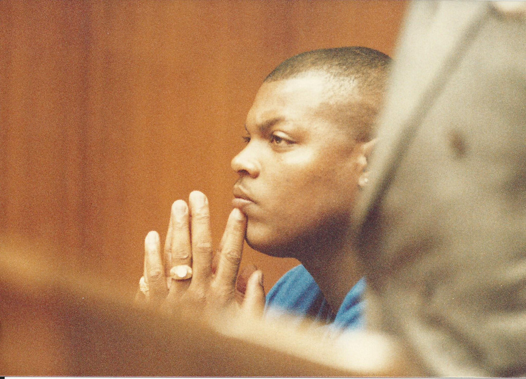. Former Detroit Lions player Reggie Rogers in Oakland County Circuit Court in August 1989. The Oakland Press/file photo