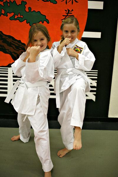 Elena and Kate - White Belt (Dec. 2006)