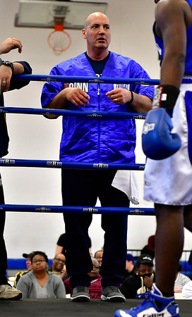 3/16/2019 Mike Orazzi | Staff UConn Boxing Coach Mike Campisano during the National Collegiate Boxing Association National Qualifier held at the Bristol Boys & Girls Club in Bristol, Conn. on Saturday.