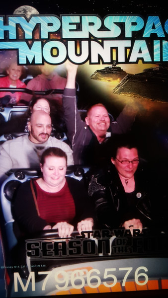 The reimagined Space Mountain did quite well with a star-wars theme - fun ride