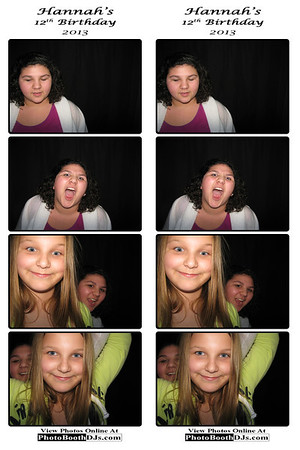 01/27/2013 Hannah's 12th Birthday PhotoStrips