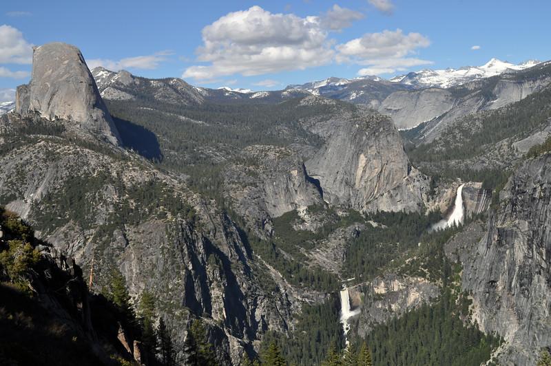 Half Dome, Nevada and Vernal falls, Yosemite National Park