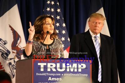 Donald Trump Sarah Palin ISU 1-19-16