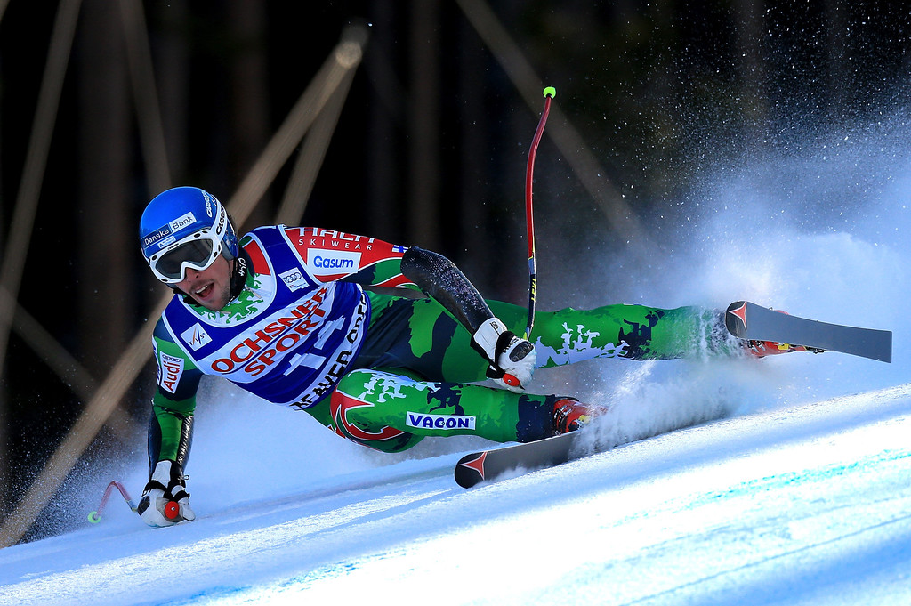 . Andreas Romar of Finland skis to 40th place in the men\'s Super G on the Birds of Prey at the Audi FIS World Cup on December 1, 2012 in Beaver Creek, Colorado.  (Photo by Doug Pensinger/Getty Images)