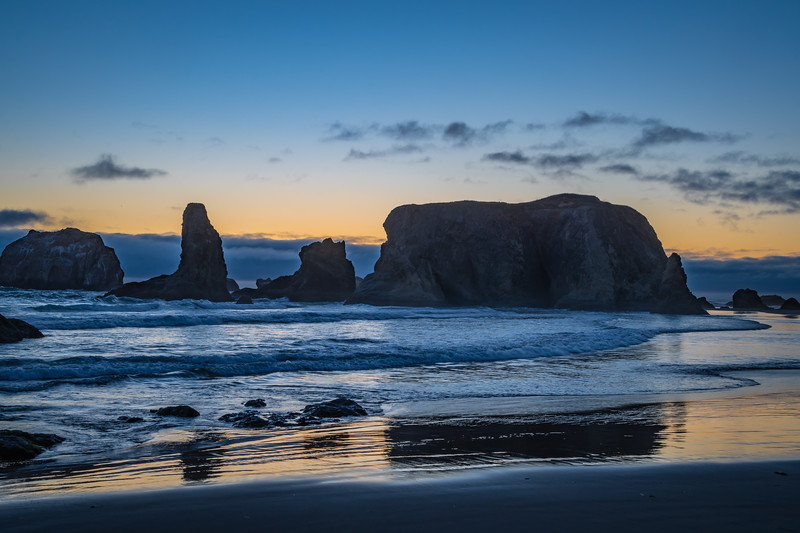 Bandon Beach North sunset 3 070618.jpg