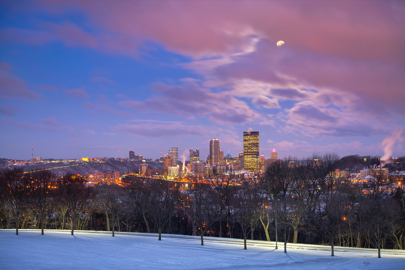 """Schenley Moonset"" - Pittsburgh, Schenley Park   Recommended Print sizes*:  4x6  