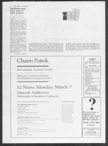Daily Trojan, Vol. 93, No. 35, March 03, 1983