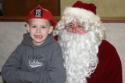 Howe Fire Dept. Breakfast with Santa, 12/10/2016