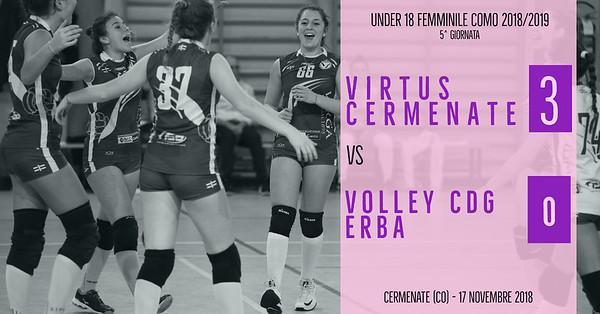CO-U18f: 5^ Virtus Cermenate - Volley CDG Erba
