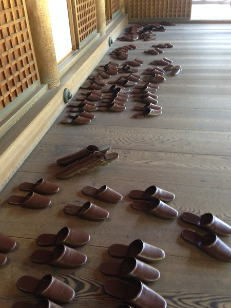 Temple slippers, Kyoto - Leslie Rowley S95