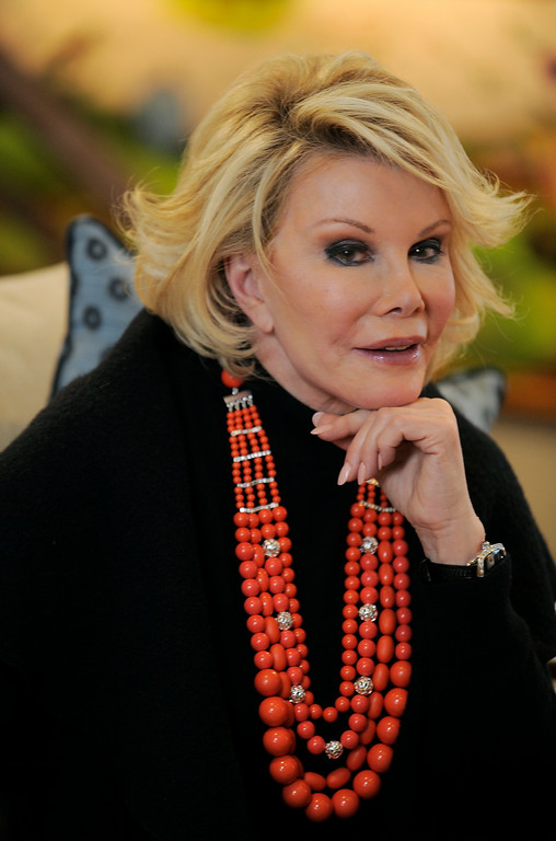 """. Joan Rivers, the subject of the documentary film \""""Joan Rivers - A Piece of Work,\"""" poses for a portrait at the Sundance Film Festival in Park City, Utah, Tuesday, Jan. 26, 2010. (AP Photo/Chris Pizzello)"""