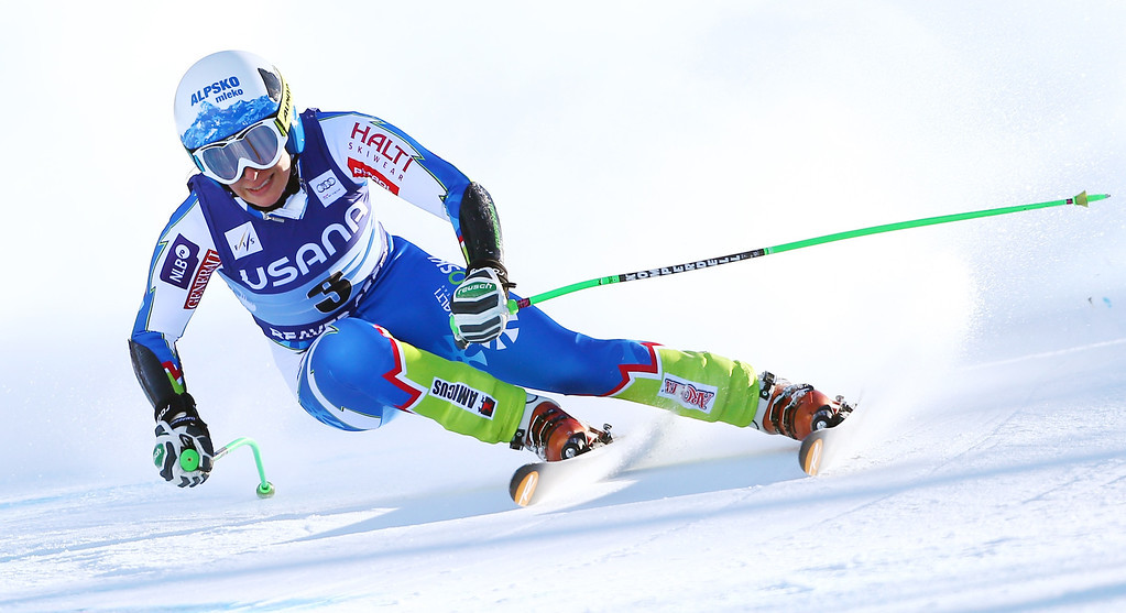 . Slovenia\'s Ilka Stuhec heads down course during the women\'s World Cup super-G skiing event, in Beaver Creek, Colo., Saturday, Nov. 30, 2013. (AP Photo/Allesandro Trovati)