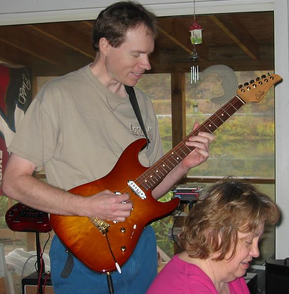 FL & Shirley Lebin, jamming at the Lebin house, Oct 27 2002.