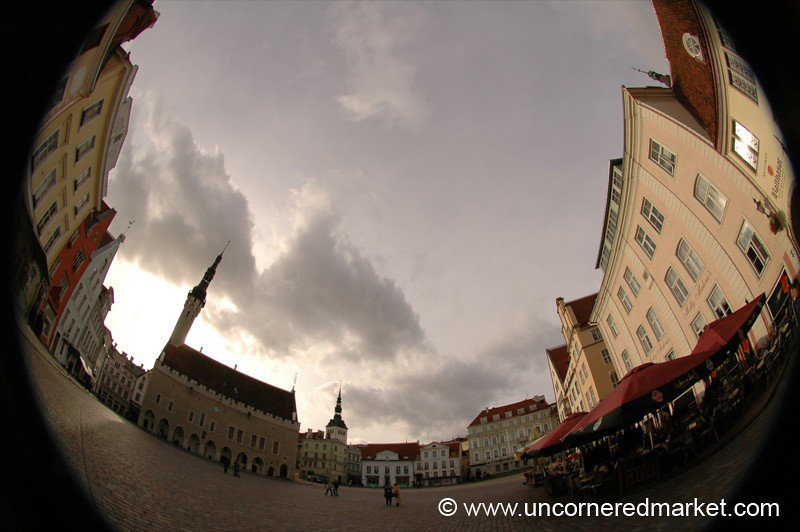 Fish-Eye View of Tallinn's Old Town - Tallinn, Estonia