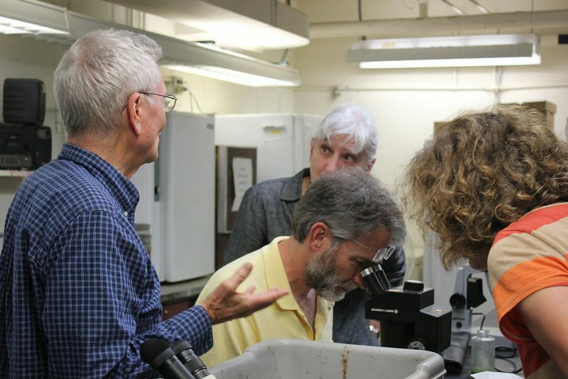 John Magnuson, Emeritus Faculty, explaining aquatic plants