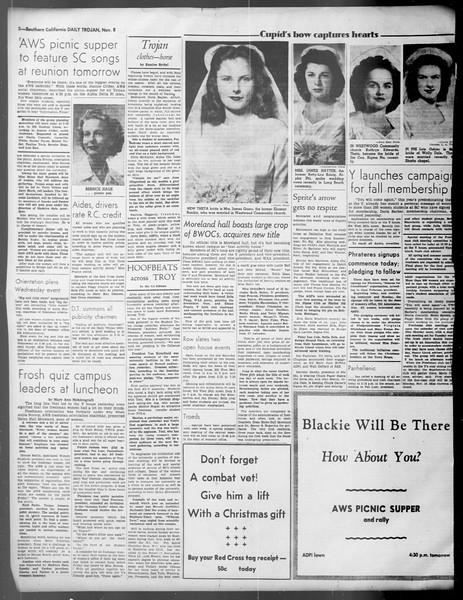 Daily Trojan, Vol. 37, No. 6, November 08, 1945