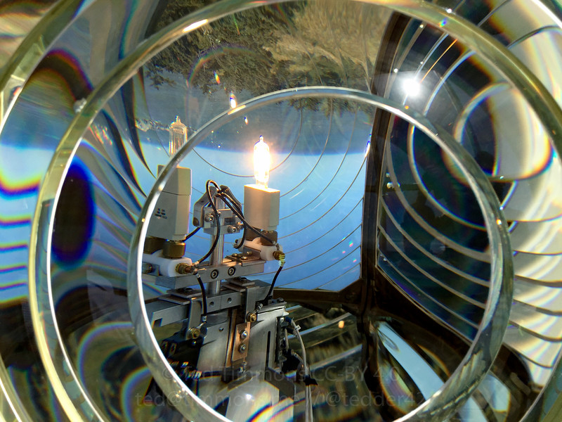 Some of the glass Fresnel lens of the Cape Blanco lighthouse.