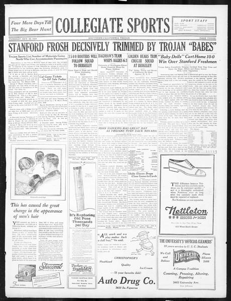 The Southern California Trojan, Vol. 16, No. 17, October 28, 1924